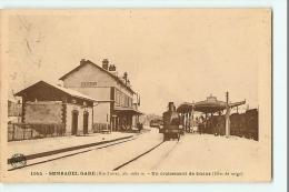 SEMBADEL - La GARE Sous La Neige - Un Croisement De Trains - Locomotive 3492 - Edition Margerit - 2 Scans - France