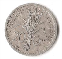 INDOCHINE  20  CENT  1945 - Kolonien