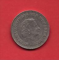 NETHERLAND ANTILLES 1985 Circulated Coin 1 Guilden Ju;iana , Nickel Km 12 - Netherland Antilles