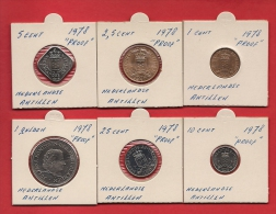 NETHERLAND ANTILLES, 1978 6 Different  Coins. 5 Cent Uncirculated - Netherland Antilles