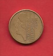 NEDERLAND 1989, Circulated Coin 5 Gulden, Beatrix, Bronze Clad Nickel Km210 - 1980-… : Beatrix