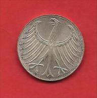 GERMANU 1974,  Circulated Coin  5 Mark 0.625 Silver Klm 112.1 - [ 6] 1949-1990 : GDR - German Dem. Rep.