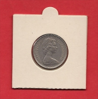 UK,  1970, Circulated Coin 5 Pence Copper Nickel, XF, Km911 - 1971-… : Decimal Coins