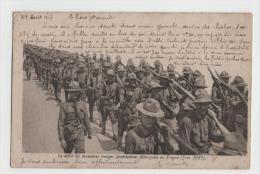 CPA - Défilé Des Premières Troupe Américaines Débarquées En France En Juin 1917 - 1914-18