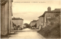 38/CPA  - St Verand - La Grand'rue - Saint-Vérand