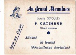 - BUVARD AU GRAND MEAULNES Librairie Depouilly, P. CATINAUD - 369 - Cartoleria