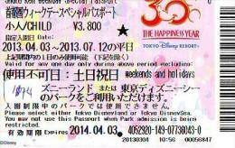 Disney Passeport Entreecard JAPON * TOKYO DISNEYSEA * Passport (1174) JAPAN * DISNEY * PASSPORT * - Disney