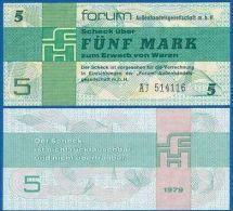 DDR 5 Mark 1979 - FOREIGN EXCHANGE CERTIFICATE UNC  D-0139 - [14] Forum-Aussenhandelsgesellschaft MBH