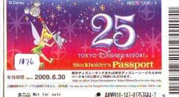 Disney Passeport Entreecard JAPON * TOKYO DISNEY * STOCKHOLDERS Passport (1176) JAPAN * DISNEY * PETER PAN * CINEMA - Disney