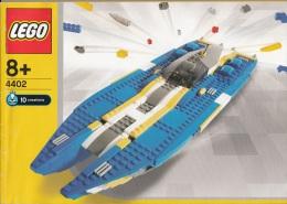 Lego 4402 Bateau 10 cr�ations avec plan 100 % Complet voir scan