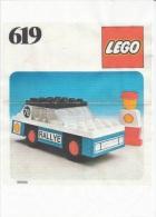 Lego 619 Voiture de course avec copie couleur du plan sans autocollants voir scan