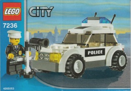 Lego 7236 Voiture De Police Controle Vitesse Avec Plan 100 % Complet Voir Scan - Lego System