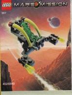 Lego 5617 Mars Mission Alien et son jet avec plan 100 % Complet voir scan