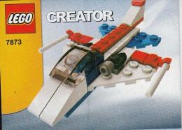 Lego 7873 Avion avec plan 100 % Complet voir scan