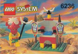 Lego 6236 Tr�ne du roi Indig�ne avec plan 100 % Complet voir scan