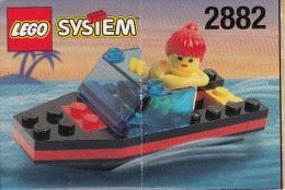 Lego 2882 Bateau rapide avec plan 100 % Complet voir scan