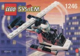 Lego 1246 Hélicoptère De Police édition Shell Avec Plan 100 % Complet Voir Scan - Lego System
