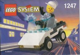 Lego 1247 Voiture de police �dition Shell avec plan 100 % Complet voir scan