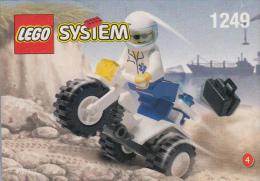 Lego 1249 Docteur avec trike �dition Shell avec plan 100 % Complet voir scan