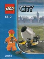 Lego 5610 Le ma�on avec plan 100 % Complet voir scan