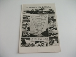 IL GRUPPO DEL BERNINA C.A.I. SEZIONE VALTELLINESE CARTINA GEOGRAFICA MULTIVEDUTINE - Carte Geografiche