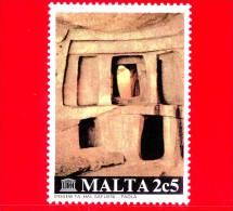 Nuovo - MNH MALTA - 1980 - UNESCO - Ipogeo Di Hal Saflieni - Catacombe - Paola - Patrimonio Mondiale Dell'Umanità - 2.5 - Malta