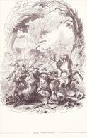 Image - Gravure. Défaite De Sabinus Et Cotta. - Vieux Papiers