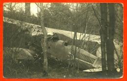 CARTE PHOTO Avion De L' ESCADRILLE 46 (Insigne Trident) Abattu Ou Accident GRANDE GUERRE 1914 1918 AVIATION MILITAIRE - War 1914-18