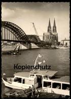 ÄLTERE POSTKARTE KÖLN AM RHEIN BOOT STROLCH Köln Düsseldorfer ? Kran-Schiff Ship Bateau Grue Crane F. Krupp Rheinhausen - Ferries