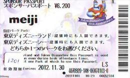 Disney Passeport Entreecard JAPON * TOKYO DISNEYLAND * Passport (1201) JAPAN * DISNEY * CINEMA * ALADDIN * MEIJI - Disney