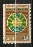 Tunisie 1986 N° 1070 ** FAO, Alimentation, Blé, Céréale, Epi, Sillons, Labour, Agriculture, Mappemonde - Tunisia
