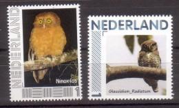 Nederland Persoonlijke Zegel Thema Uil, Owl:   Valkuil + Dwerguil - Period 1980-... (Beatrix)
