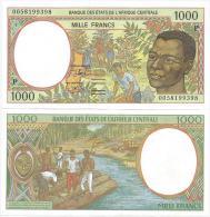 Chad  1000  Francs 2000. UNC/AUNC  Central African Franc CFA Lettre P - Tchad