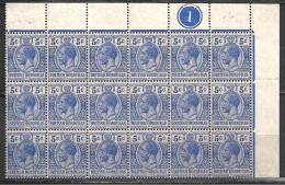 (L127) Honduras Britannique Ex Belize N°76** Bloc De 18 Exemplaires Coin De Feuille (cote = 54,00 €) - British Honduras (...-1970)