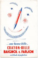- BUVARD Crayon-Bille BAIGNOL&FARJON Librairie BRANDICOURT à AMIENS - 381 - Cartoleria