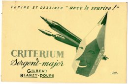 - BUVARD CRITERIUM Sergent-Major Gilbert Blanzy-Poure - 383 - Stationeries (flat Articles)