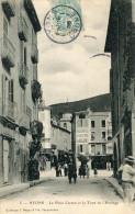 CPA 26 NYONS LA PLACE CARNOT ET LA TOUR DE L HORLOGE 1905 - Nyons