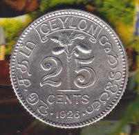 @Y@    Sri Lanka / Ceylon  25 Cents 1926  (2309) - Sri Lanka