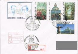 "Belgique - FDC (R) ""Les Serres De Laeken"" - Ciney 21 Oct 89 - Altri"