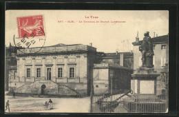 CPA Albi, Le Tribunal Et Statue Lapeyrouse - Albi