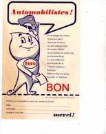 ESSO - Bon Pour Porte-cles Bonhomme Esso-pub Carte & Guide Esso-liste Stations Services Esso Haute-Garonne 29 à Toulouse - Publicités