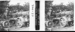 62-002 - Guerre 14-18 - PAS De CALAIS - MONCHY - Mise En Batterie D'un 240 - Plaques De Verre