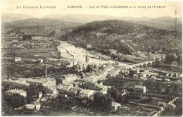 07/CPA - Aubenas - Vue De Pont D'Aubenas Et La Vallée De L'Ardèche - Aubenas