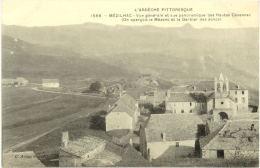 07/CPA - Mézilhac - Vue Générale Et Vue Panoramique Des Hautes Cévennes - France