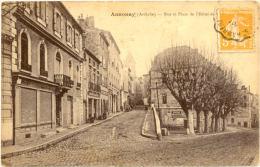 07/CPA - Annonay - Rue Et Place De L'hotel De Ville - Annonay