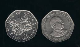 KENYA -  5  Shilling  1994  KM23a - Kenia