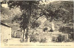 07/CPA - Saint Laurent Les Bains - Vue Générale  (Route De La Bastide) - France