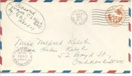 De Londres Entier Postal Us Postal Air Mail APO 887 (supreme Headquarters Allied Expeditionnary Forces) - Marcophilie (Lettres)