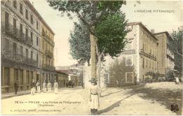 07/CPA A - Privas - Les Postes Et Télégraphes , L'Esplanade (1855 à Priori) - Privas
