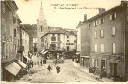 07/CPA A - La Louvesc - La Place Principale - La Louvesc